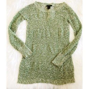 Scoop NYC green marled tunic length sweater size S